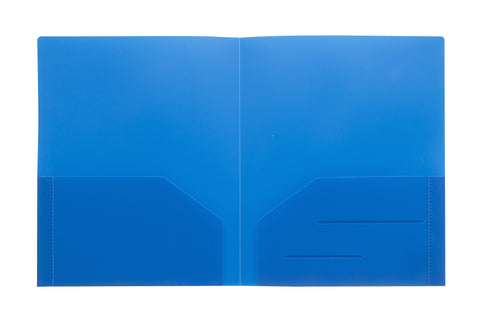 Blue Heavy Duty Plastic Folder