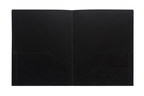 Black Heavy Duty Plastic Folder