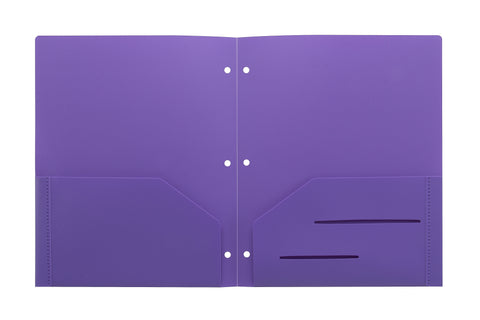 Purple Heavy Duty 3 Punch Holes Plastic Folder