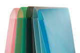 Glass Twill Plastic Folder Assorted Pack of 12