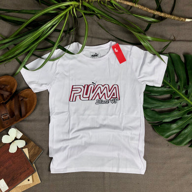 PUMA BRANDED T SHIRT (item code - PU/white)