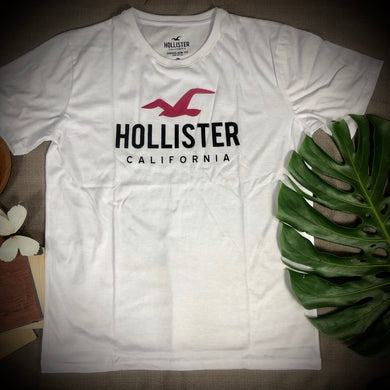 Hollister Branded T shirt ( item code - HO/White)