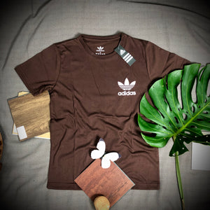 Adidas Branded T Shirt ( T shirt item code - AD/Brown )