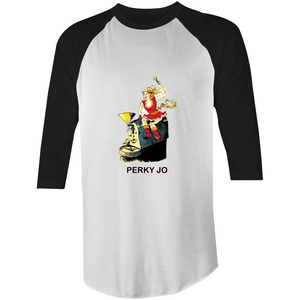 1961Coffee Perky Jo - 3/4 Sleeve Mens T-Shirt