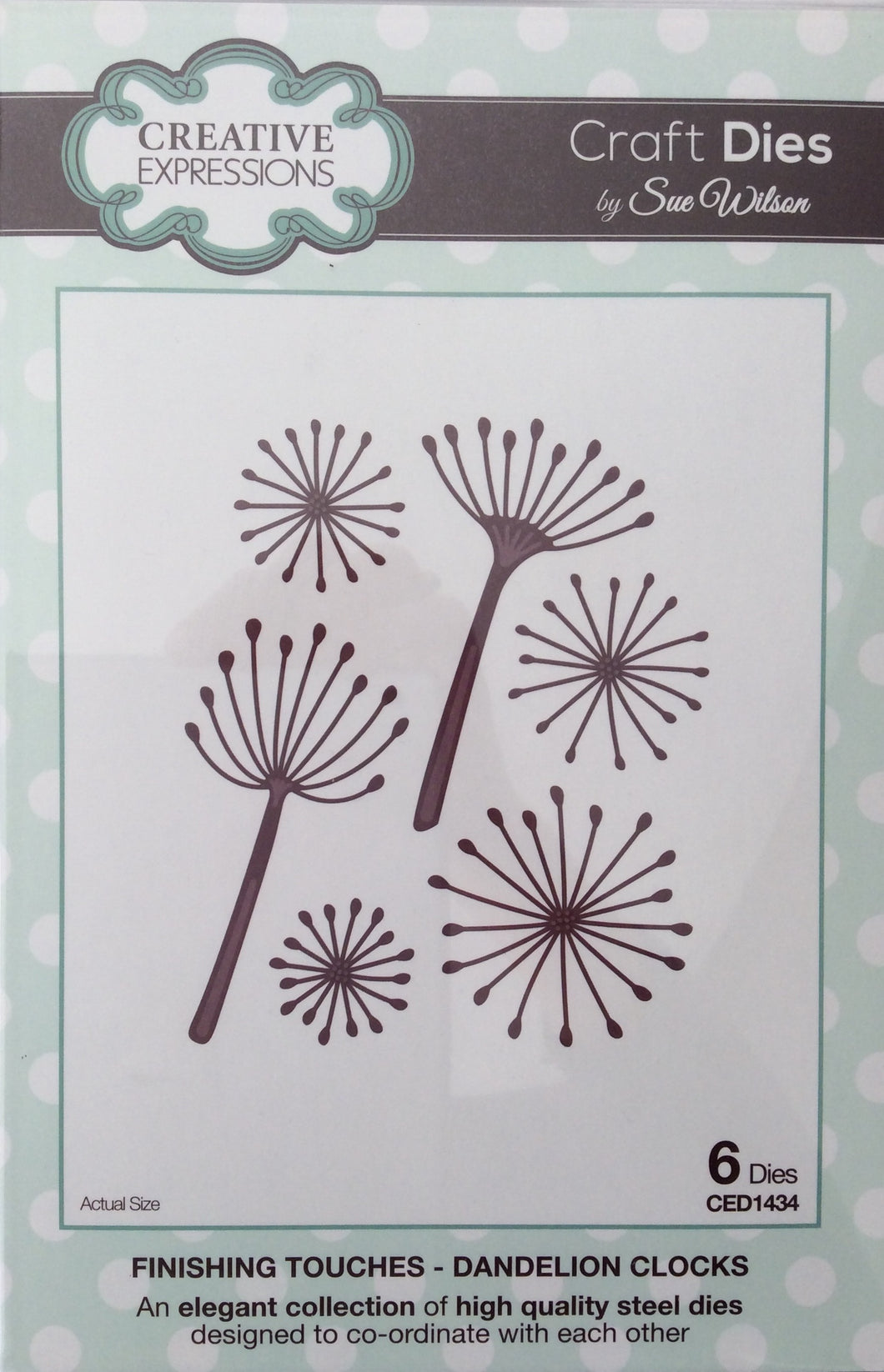 Creative Expressions Craft Dies by Sue Wilson Finishing Touches - Dandelion Clocks 6 Dies