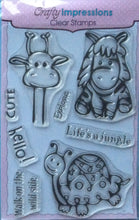 Crafty Impressions Clear Stamp Collection - Life's a Jungle CICSA6045