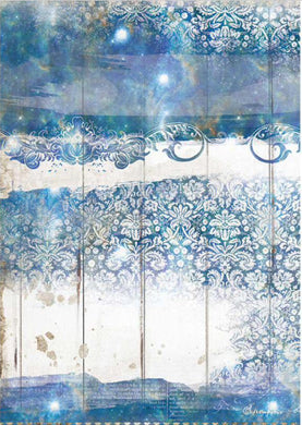 Stamperia A4 Rice Paper Romantic Sea Dream Texture DFSA4563