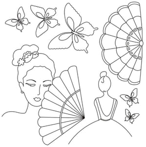 Stamperia Silhouette Art Napkin Lady Butterfly Decoupage Rice Paper 50x50cm DFTM04