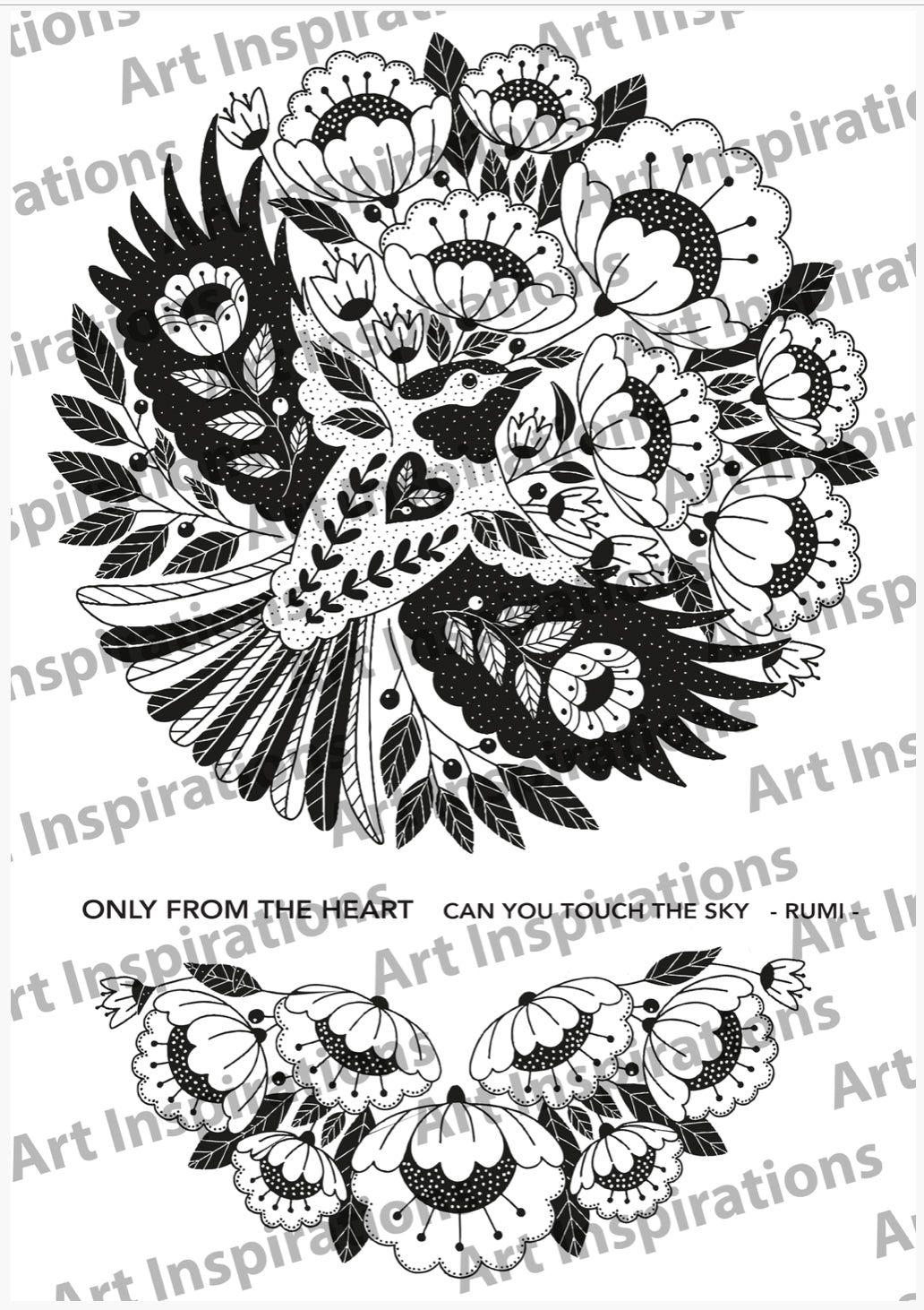 Art Inspirations by Wensdi Made A5 Clear Stamps -  Only From The Heart - 3 Stamps