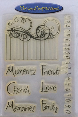 Personal Impressions Clear Stamp Collection designed by Marion Emberson - Sentiments PICS027