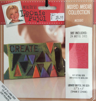 "Leonie Pujol Mixed Media Collection - Mosaic - 24 Metal Die Set 3.7""x 4.9"""