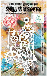 AALL & Create Stencil designed by Bipasha Bk A6 Digits Geared #111