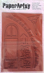 PaperArtsy Squiggly Ink Rubber Stamp & Stuff - Bricks & Mortar SIBM3.  9.5cm x 13.5cm