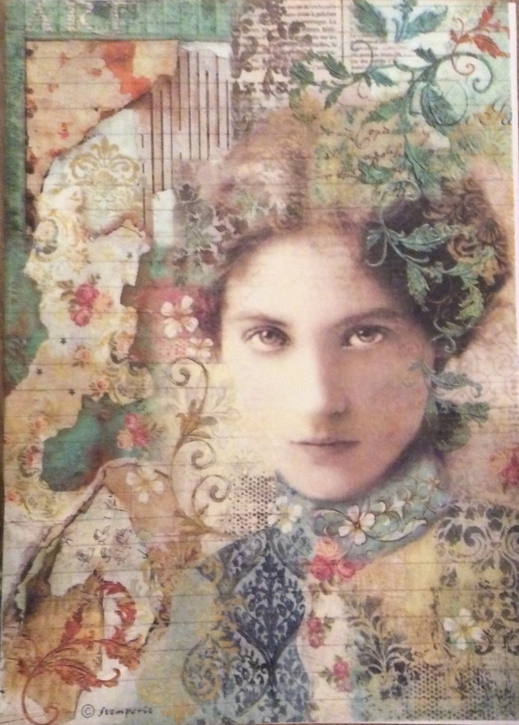 Stamperia Time is an Illusion Face Decoupage Rice Paper A4