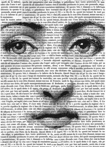 Stamperia Decoupage Rice Paper Face on Words A4