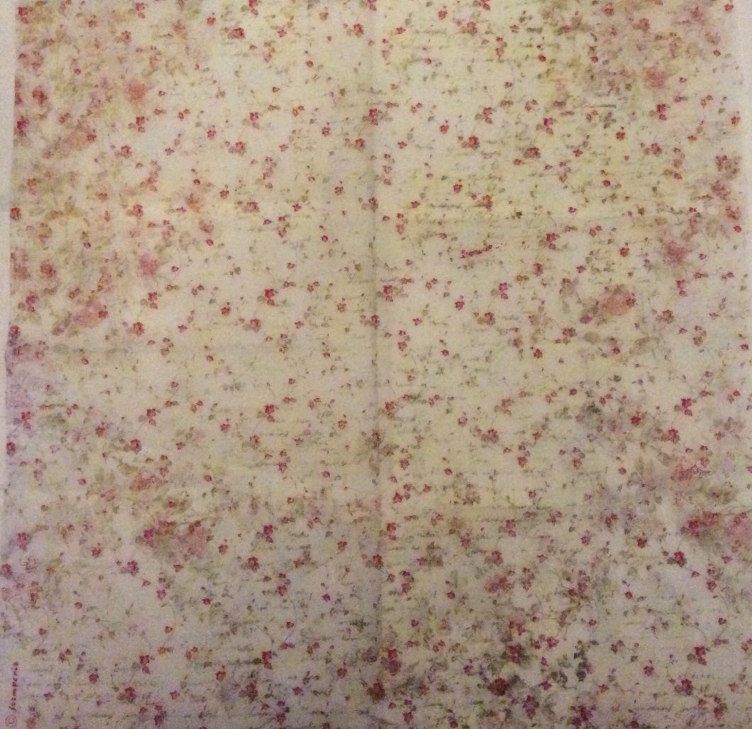 Stamperia Decoupage Rice Paper 50 x 50 Sweet Christmas Roses