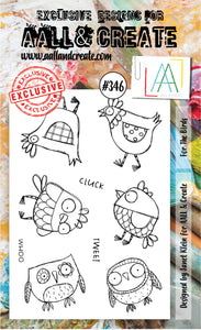 AALL & Create - A6 Clear Stamp Set Designed by Janet Klein - #346