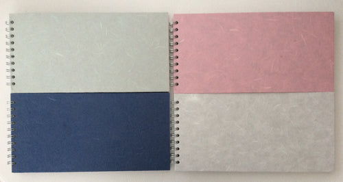 Pink Pig 12 x 6 Spiral Bound Watercolour Books - Landscape