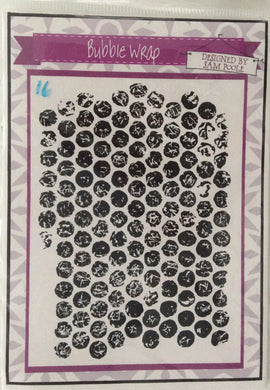 Creative Expressions Designed by Sam Poole - Bubble Wrap Rubber Stamp
