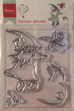 Hetty's Gnomes by Marianne Design Clear Stamp Set - Gnomes Autumn - 5 Stamps