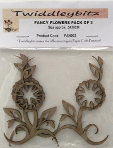 Twiddleybitz Fancy Flower Pack of 3