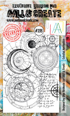 AALL & Create - A6 Clear Stamp Set Designed by Olga Heldwein - Celestial Navigation #398