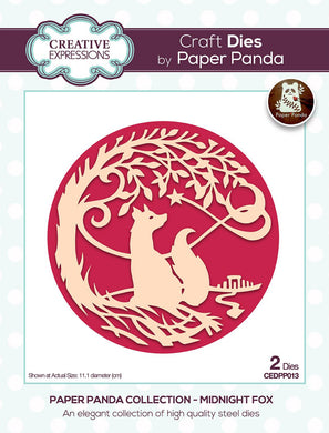 Creative Expressions Paper Panda Collection Midnight Fox - 2 Dies