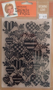 "Crafters Companion Embossing Folders by Leonie Pujol - Growing Love 5"" x 7"""