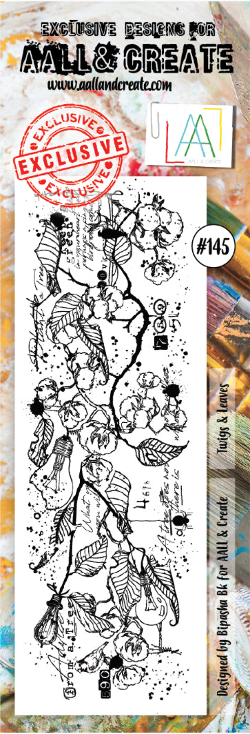 AALL & Create - Border Clear Stamp Set Designed by Bipasha Bk - Twigs & Leaves #145