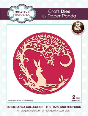Creative Expressions Paper Panda Collection The Hare and the Moon - 2 Dies