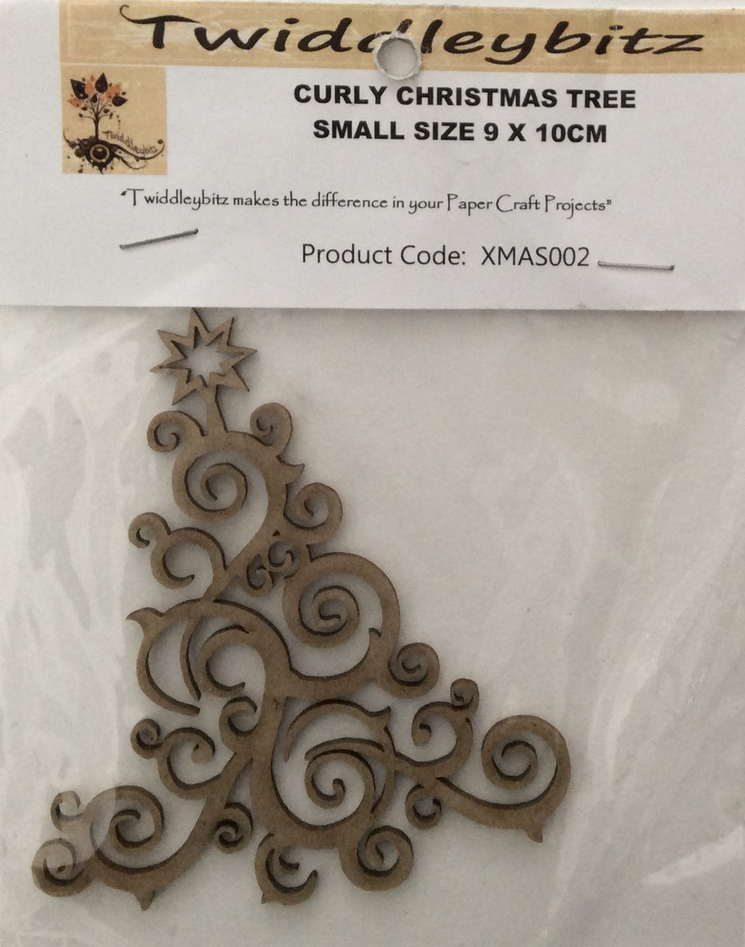 Twiddleybitz Small Curly Christmas Tree