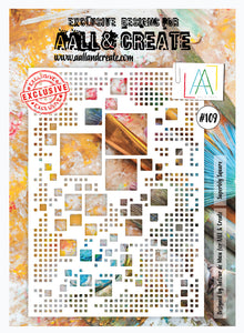 AALL & Create Stencil designed by Autour de Mwa -A4  - Superbly Square #109