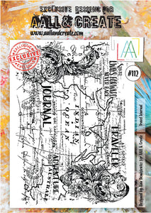 AALL & Create - A4 Clear Stamp Set Designed by Aida Domisiewicz - Travel Journal #112