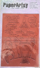PaperArtsy Squiggly Ink Rubber Stamp & Stuff - Crowns & Castles SICC4 9.5cm x 13.5cm