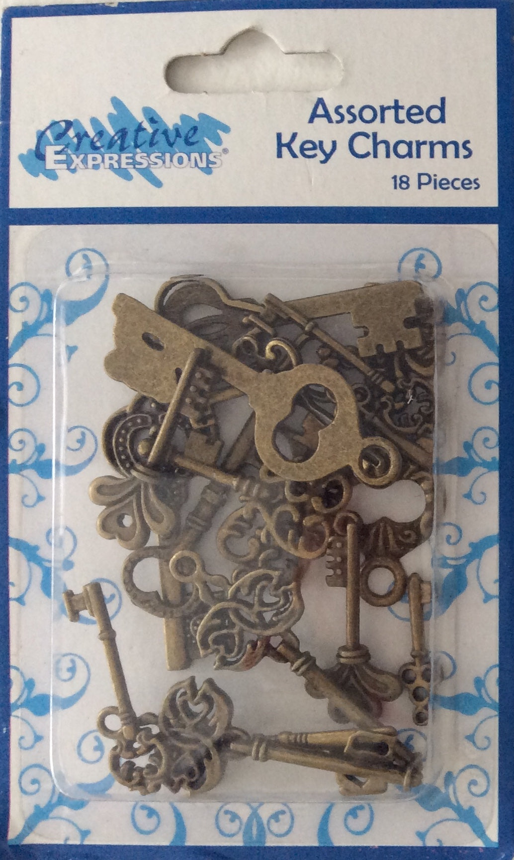 Creative Expressions Assorted Key Charms 18 Pieces