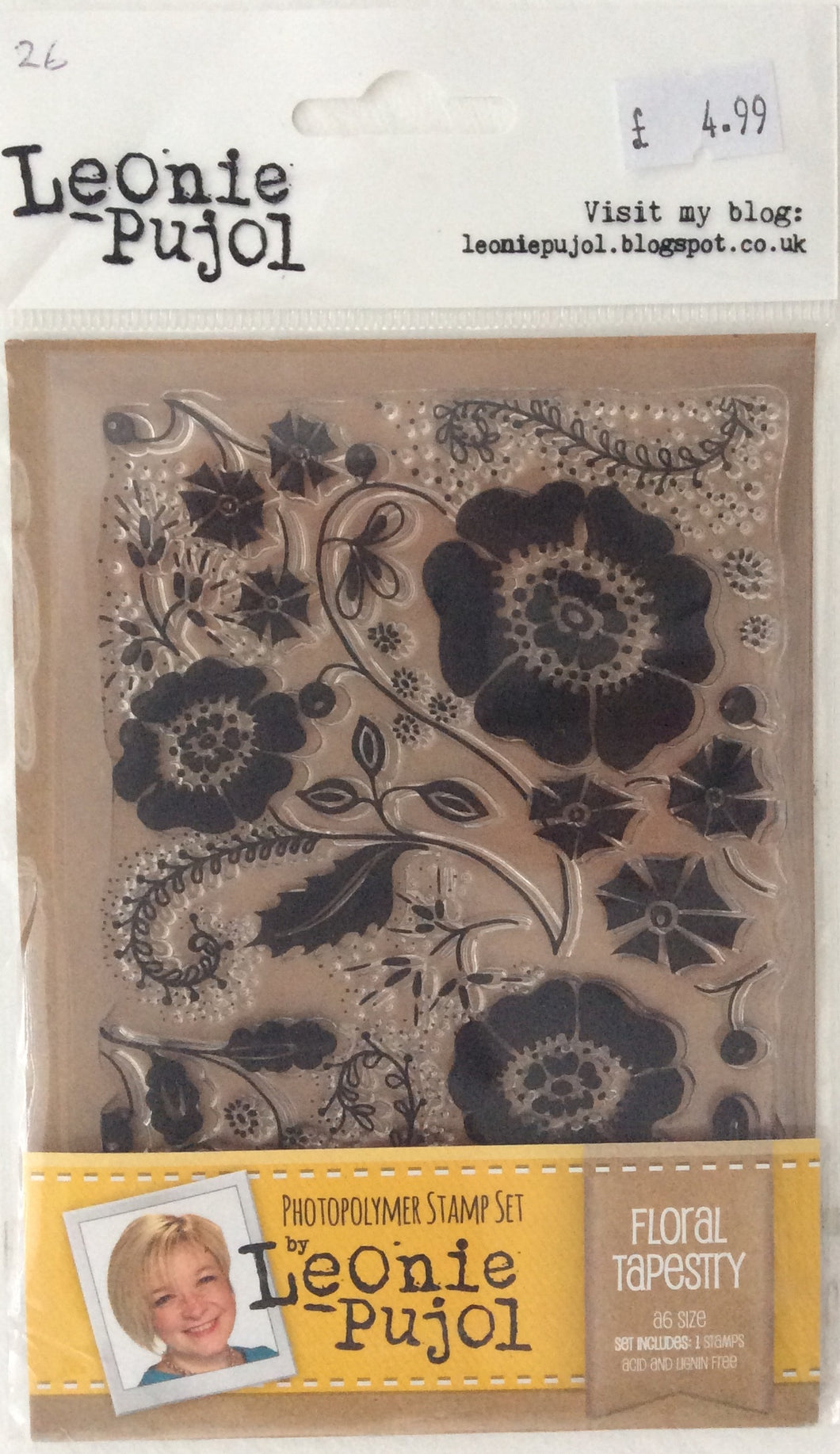 Crafters Companion Photopolymer Stamp Set Designed by Leonie Pujol A6 - Floral Tapestry