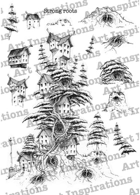 Art Inspirations with Brejanzart A5 Stamp Set - Strong Roots - 13 Stamps