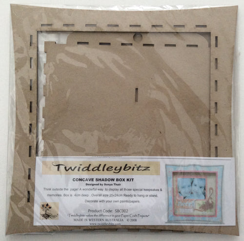 Twiddleybitz MDF Concave Shadow Box Kit