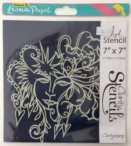 "Clarity Art Stencils by Leonie Pujol - Natural Beauty Frameless 7""x 7"""