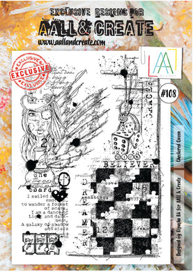 AALL & Create - A4 Clear Stamp Set Designed by Bipasha Bk - Checkered Queen #108
