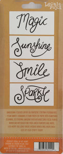 "Crafters Companion Embossing Folders by Leonie Pujol - Keep Shining 3.1""x 1.6"" Pack of 4"