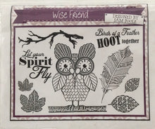 Creative Expressions Designed by Sam Poole - Wise Friend Rubber Stamp A5