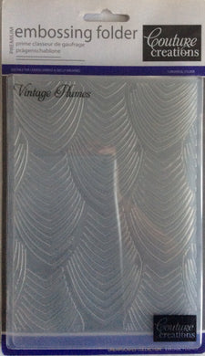 Couture Creations Embossing Folder - Dreamscapes Collection: Vintage Plumes