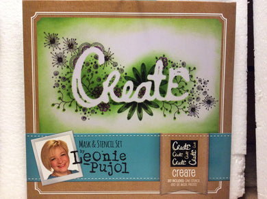 Crafters Companion Mask & Stencil Set by Leonie Pujol - Create