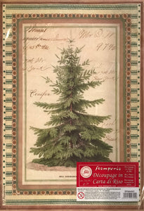 Stamperia Rice Paper decoupage A4 Fir Tree DFSA4327