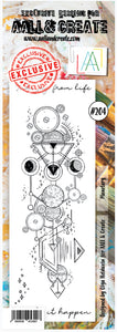 AALL & Create - Border Clear Stamp Set Designed by Olga Heldwein - Planetary #204