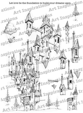 Art Inspirations with Brejanzart A4 Stamp Set - Building Your Dreams - 13 Stamps