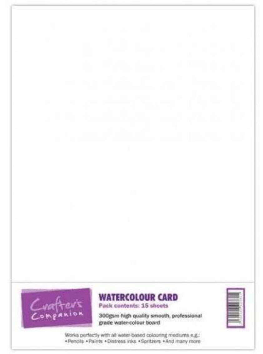 Crafters Companion Water Colour 300gsm Card A4 pack of 15 sheets