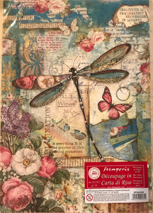 Stamperia Rice Paper decoupage A4 dragonfly DFSA4309