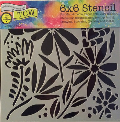 "TCW Arts by Marlene Designs - Stencils - Mini Summer Burst 6""x 6"""